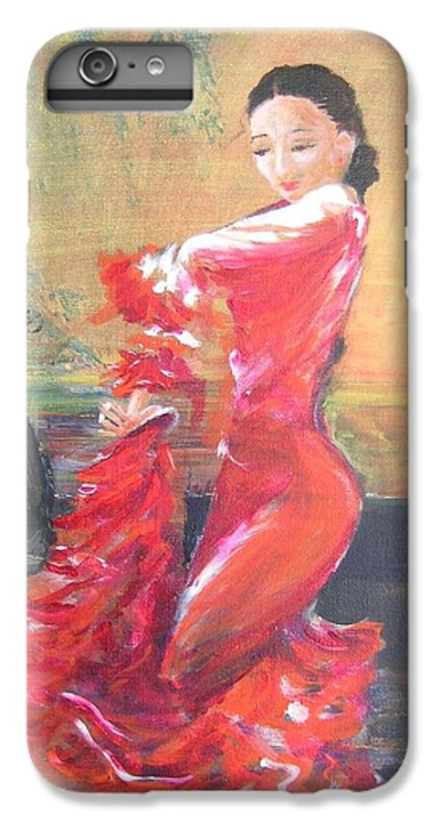 Gypsy Flamenco Dancer. Spanish Dancer IPhone 6 Plus Case featuring the painting Duende by Lizzy Forrester