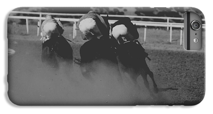 Horse IPhone 6 Plus Case featuring the photograph Dust And Butts by Kathy McClure