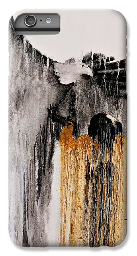 Natives IPhone 6 Plus Case featuring the painting Eagle Spirit by Patrick Trotter