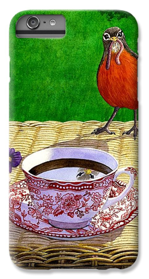 Robin IPhone 6 Plus Case featuring the painting Early Bird by Catherine G McElroy