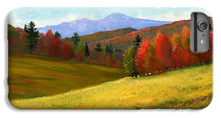 Landscape IPhone 6 Plus Case featuring the painting Early October by Frank Wilson