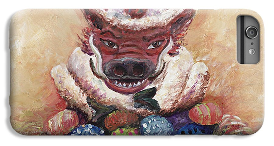 Easter IPhone 6 Plus Case featuring the painting Easter Hog by Nadine Rippelmeyer