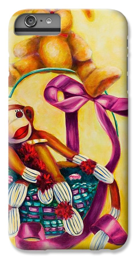 Easter IPhone 6 Plus Case featuring the painting Easter Made Of Sockies by Shannon Grissom