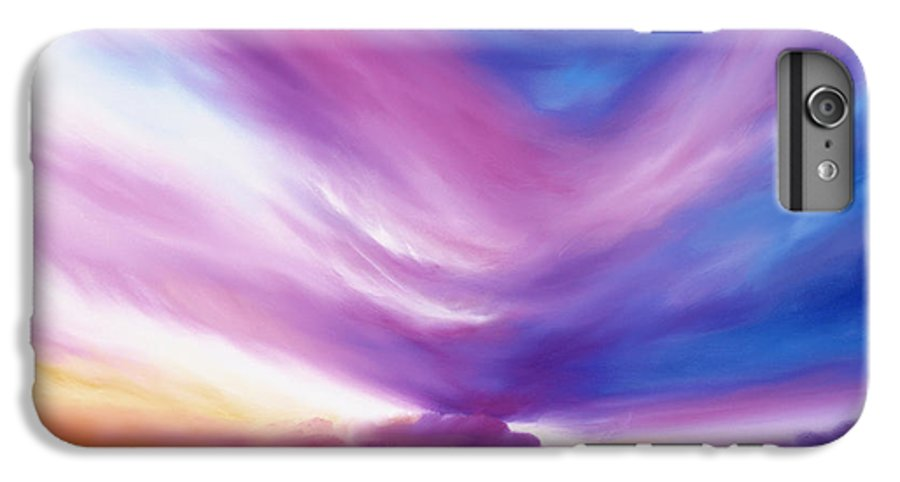 Clouds IPhone 6 Plus Case featuring the painting Ecstacy by James Christopher Hill