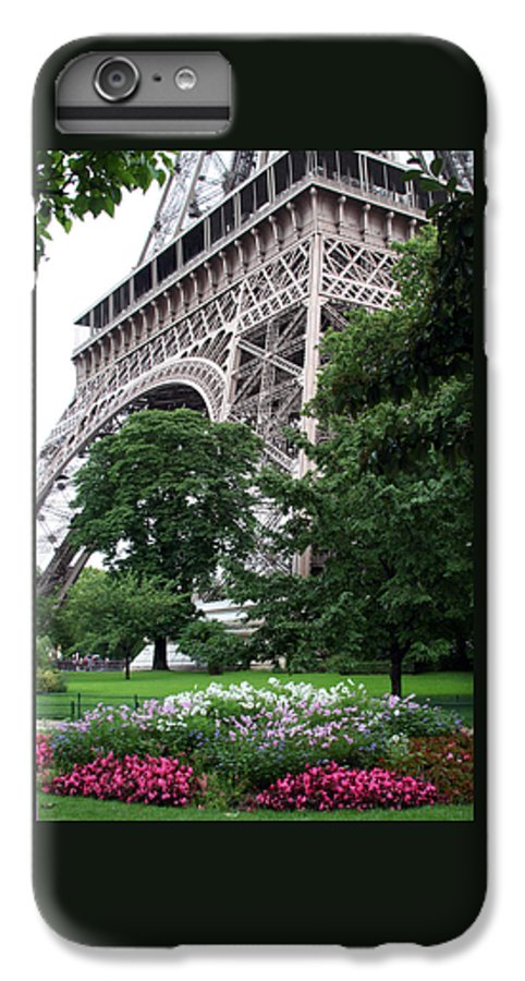Eiffel IPhone 6 Plus Case featuring the photograph Eiffel Tower Garden by Margie Wildblood