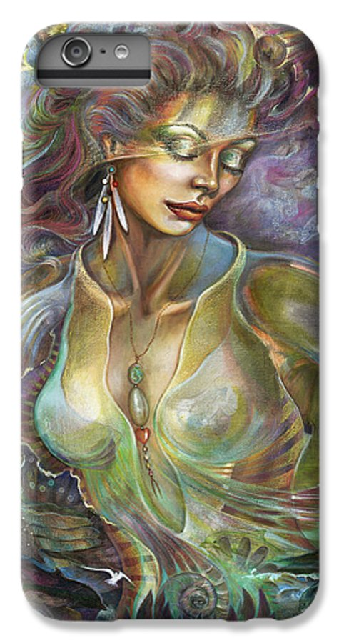 Elements IPhone 6 Plus Case featuring the painting Element Air by Blaze Warrender