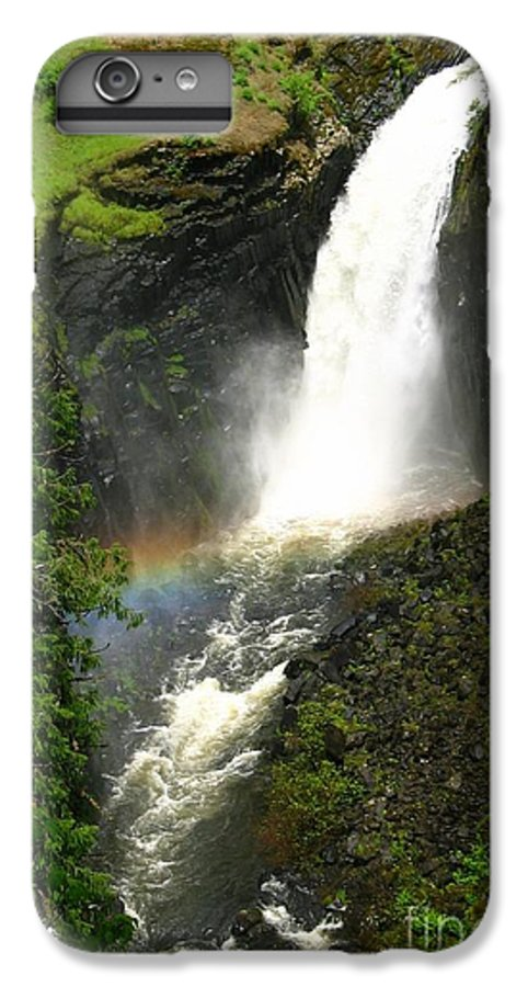 Rainbow IPhone 6 Plus Case featuring the photograph Elk Creek Falls Rainbow by Idaho Scenic Images Linda Lantzy