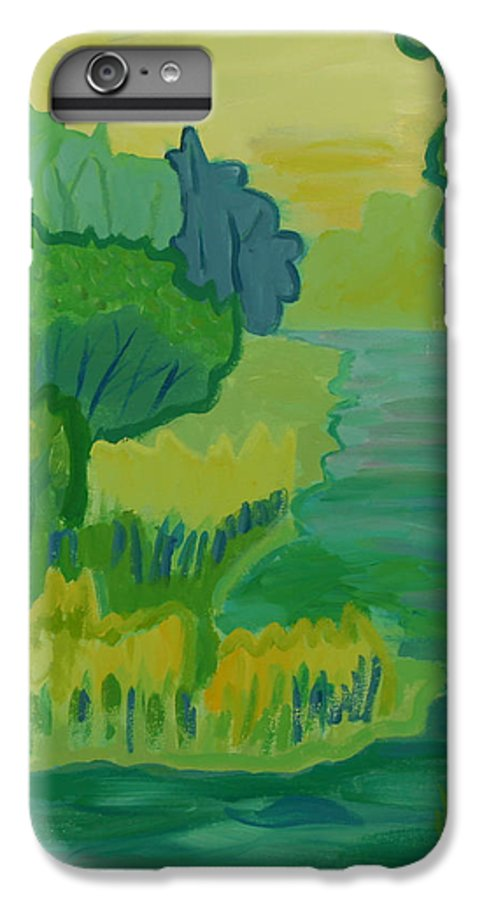 River IPhone 6 Plus Case featuring the painting Ellis River by Debra Bretton Robinson