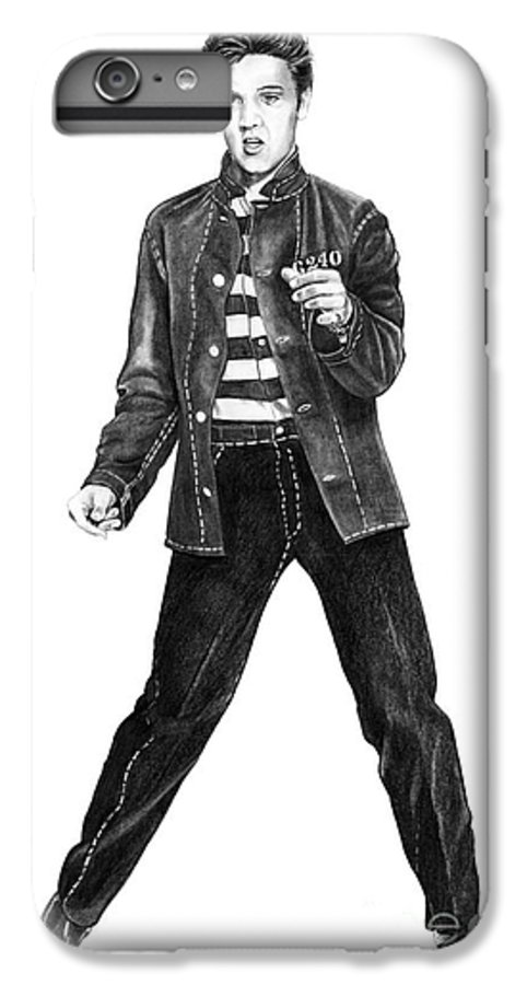 Elvis IPhone 6 Plus Case featuring the drawing Elvis Presley  by Murphy Elliott
