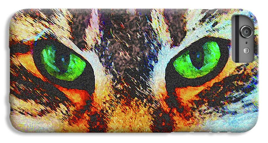 Emerald Gaze IPhone 6 Plus Case featuring the digital art Emerald Gaze by John Beck