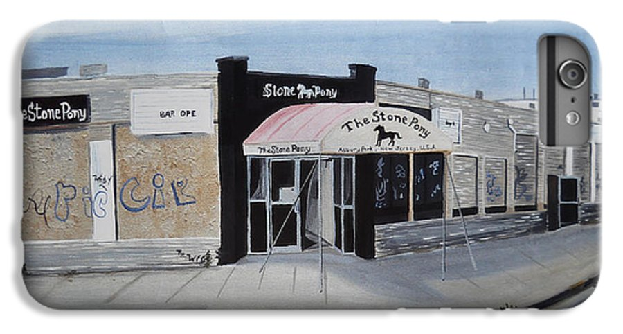 Acrylic Painting Of The Stone Pony IPhone 6 Plus Case featuring the painting End Of An Era by Patricia Arroyo