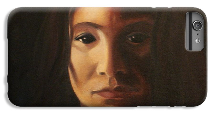 Woman In The Dark IPhone 6 Plus Case featuring the painting Endure by Toni Berry