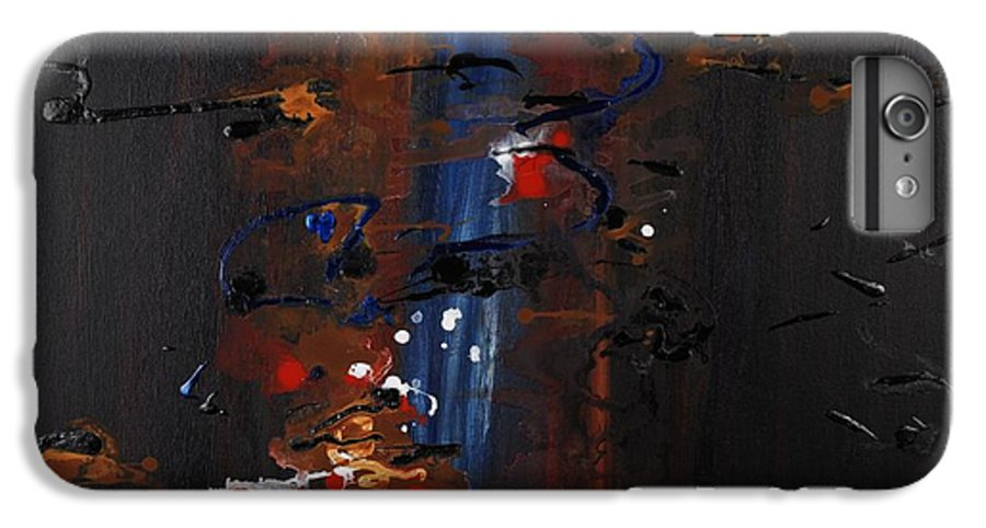 Black IPhone 6 Plus Case featuring the painting Energy by Nadine Rippelmeyer