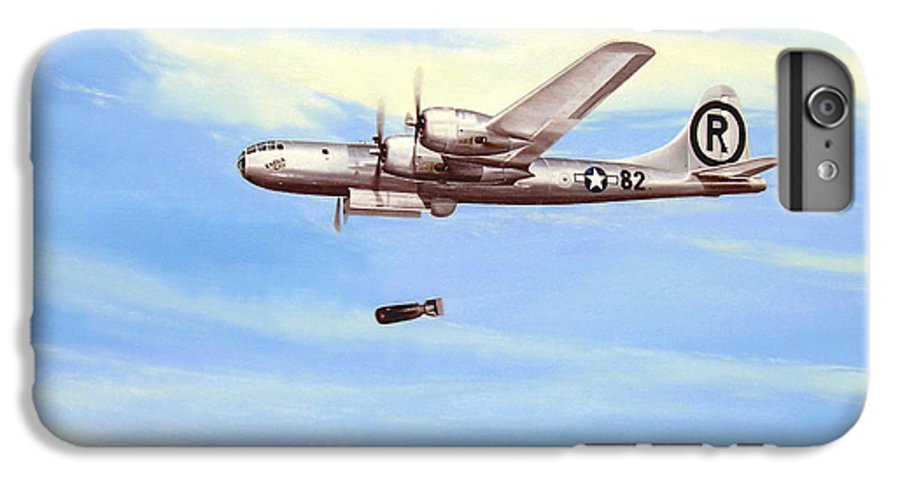 Military IPhone 6 Plus Case featuring the painting Enola Gay by Marc Stewart