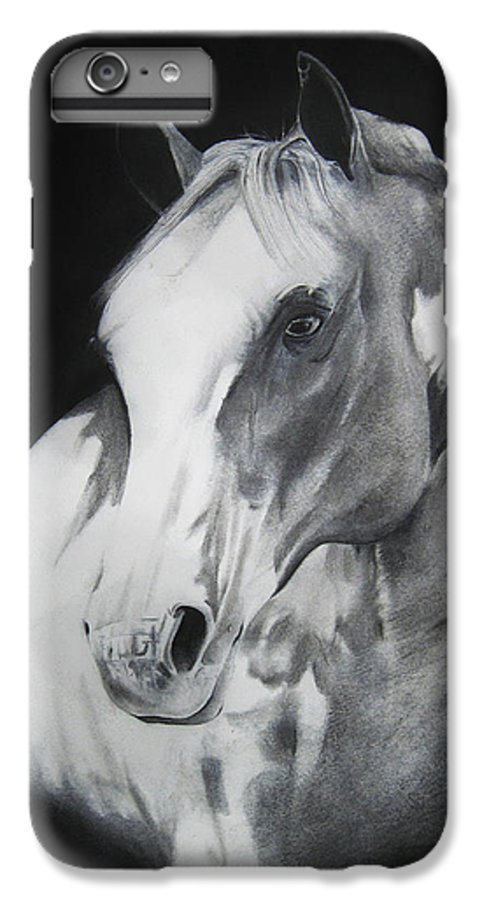 Horse IPhone 6 Plus Case featuring the drawing Equestrian Beauty by Carrie Jackson