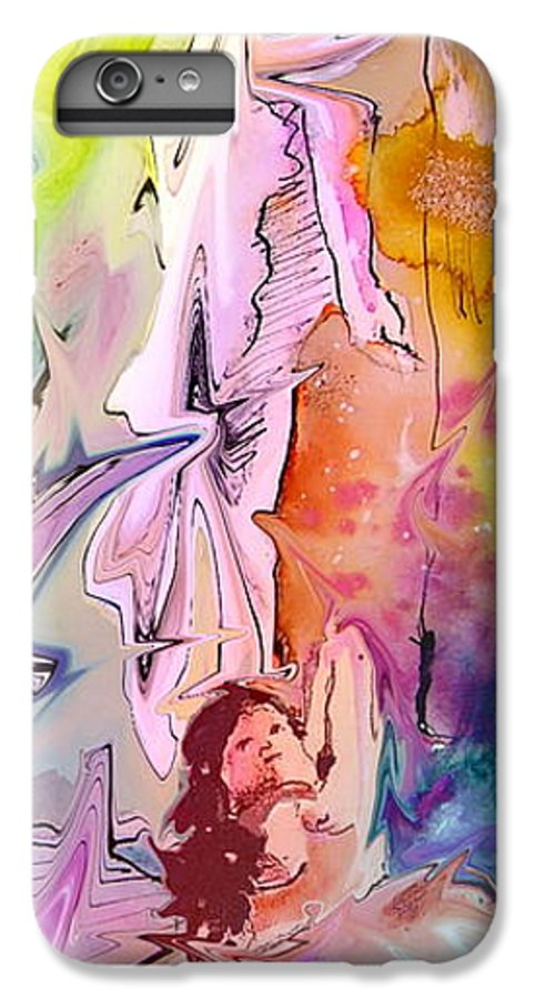 Miki IPhone 6 Plus Case featuring the painting Eroscape 09 1 by Miki De Goodaboom
