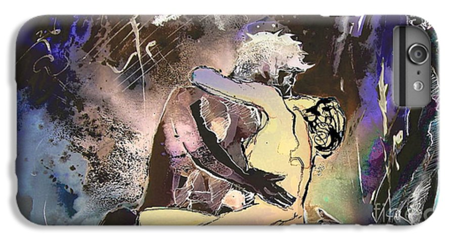 Miki IPhone 6 Plus Case featuring the painting Eroscape 09 2 by Miki De Goodaboom