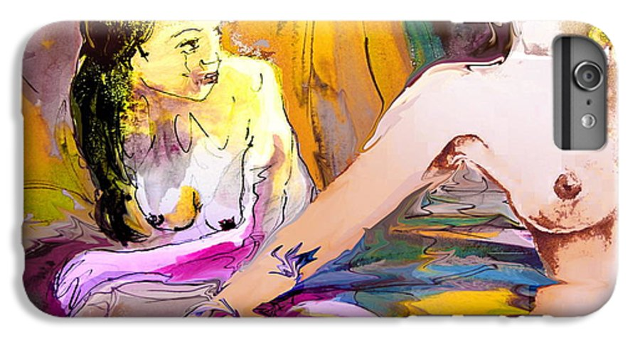Miki IPhone 6 Plus Case featuring the painting Eroscape 15 2 by Miki De Goodaboom