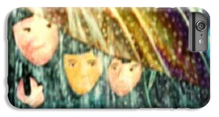 Portrait IPhone 6 Plus Case featuring the painting Escape From The Rain by Brenda L Spencer