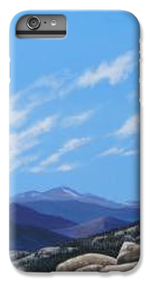 Estes Park IPhone 6 Plus Case featuring the painting Estes Overlook by Hunter Jay
