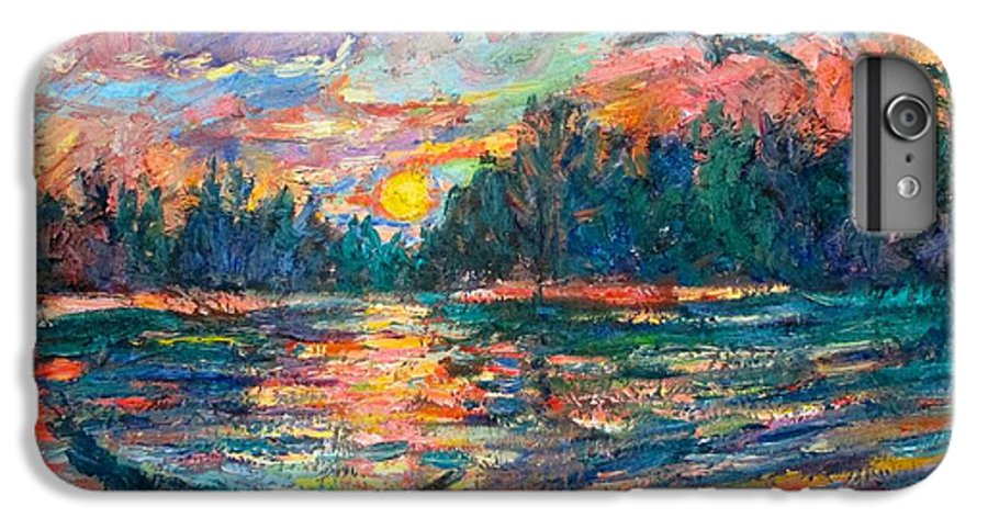 Landscape IPhone 6 Plus Case featuring the painting Evening Flight by Kendall Kessler