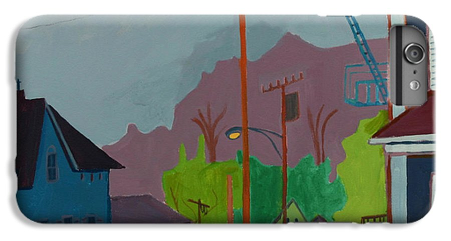 Town IPhone 6 Plus Case featuring the painting Evening In Town by Debra Bretton Robinson