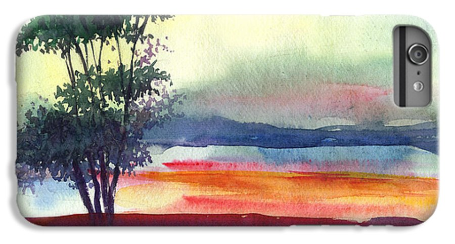 Water Color IPhone 6 Plus Case featuring the painting Evening Lights by Anil Nene
