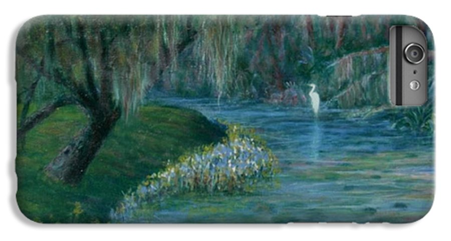 Low Country; Egrets; Lily Pads IPhone 6 Plus Case featuring the painting Evening Shadows by Ben Kiger