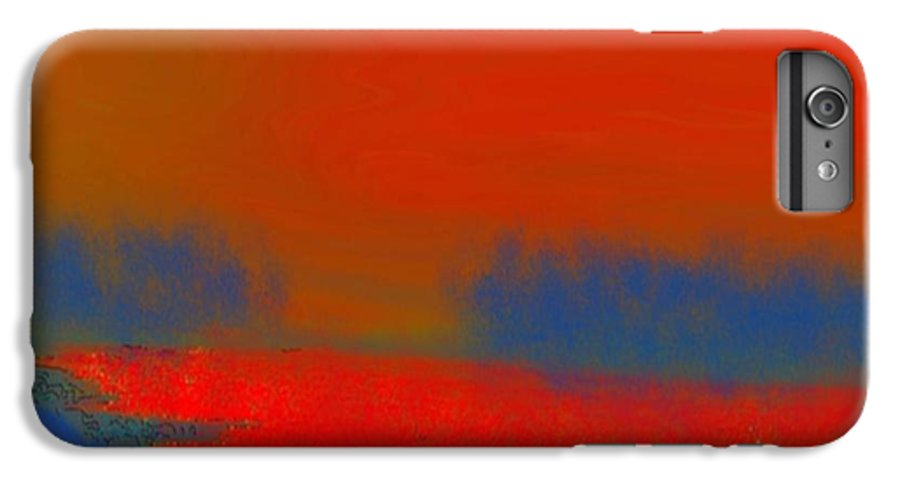 Sunset IPhone 6 Plus Case featuring the digital art Evening Way To Dead Sea.fire Sunset by Dr Loifer Vladimir