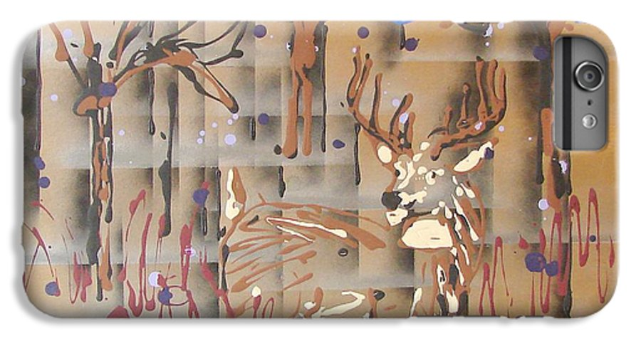 Buck In Tree Line IPhone 6 Plus Case featuring the painting Everwatchful by J R Seymour