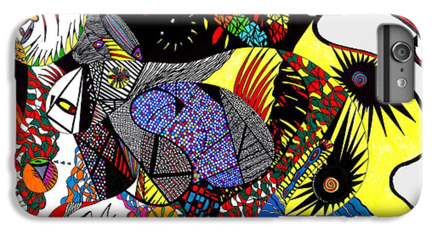Psychedelic IPhone 6 Plus Case featuring the painting Evil Born by Safak Tulga
