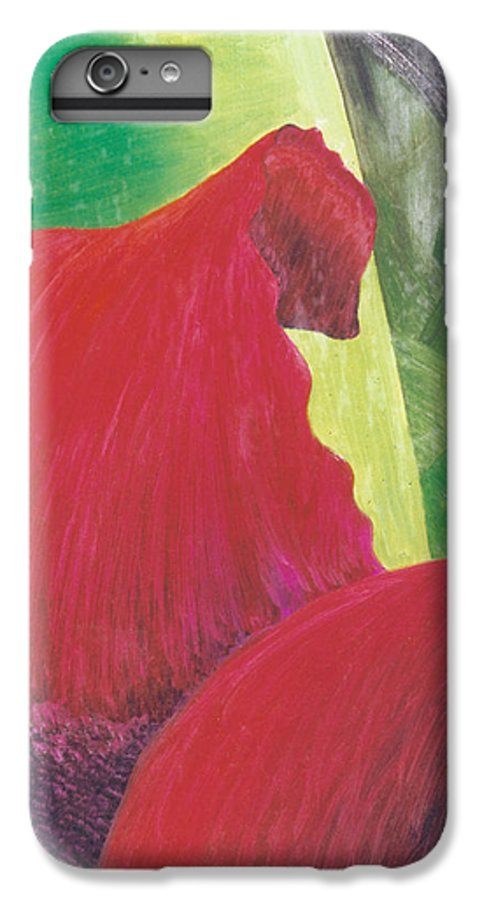 Red IPhone 6 Plus Case featuring the painting Expectations by Christina Rahm Galanis