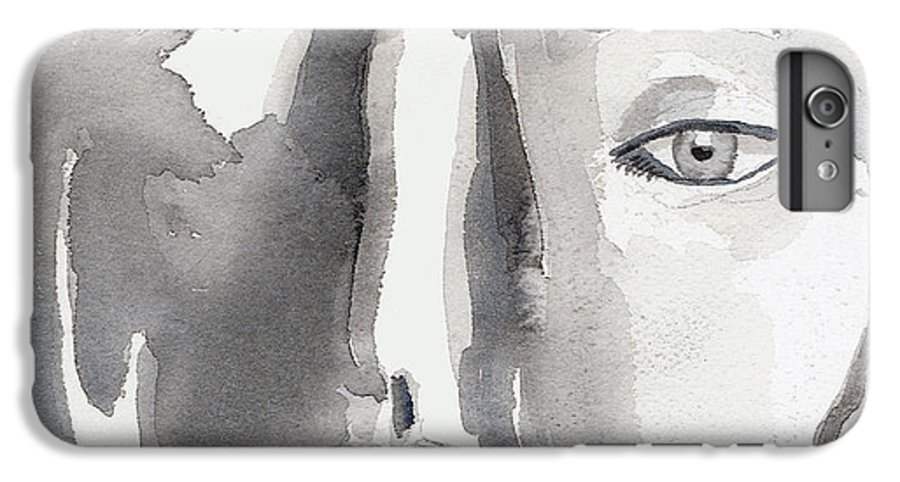 Faces IPhone 6 Plus Case featuring the painting Faces by Arline Wagner