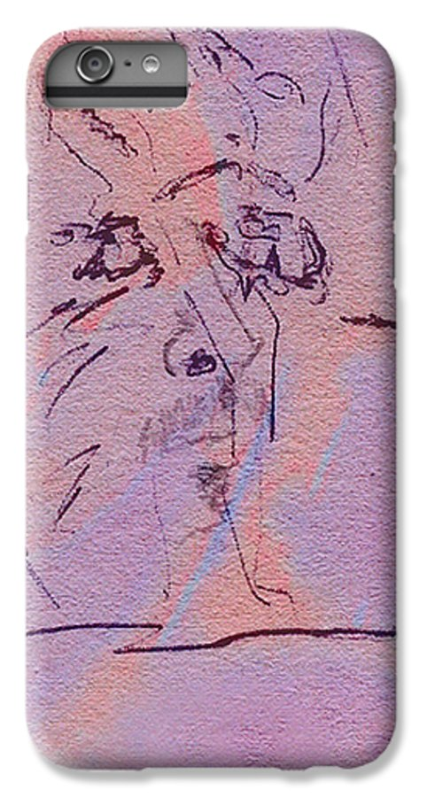 Abstract IPhone 6 Plus Case featuring the mixed media Faces Of Trivia by Steve Karol