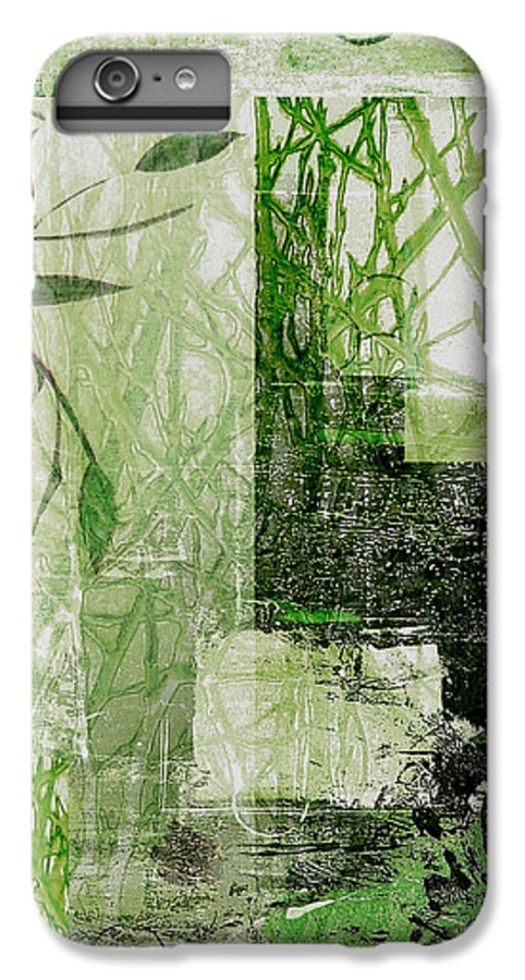 Abstract IPhone 6 Plus Case featuring the mixed media Faded Floral by Ruth Palmer