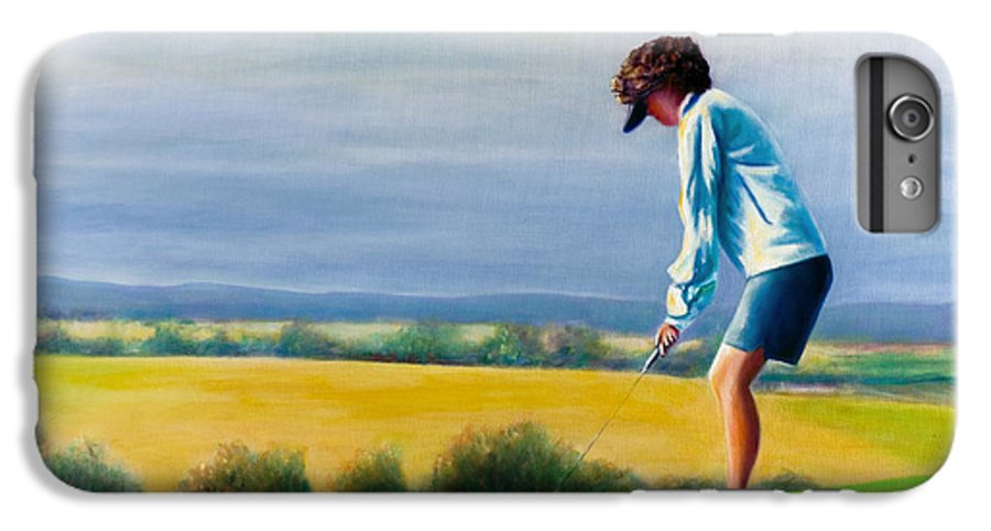 Golfer IPhone 6 Plus Case featuring the painting Fairy Golf Mother by Shannon Grissom
