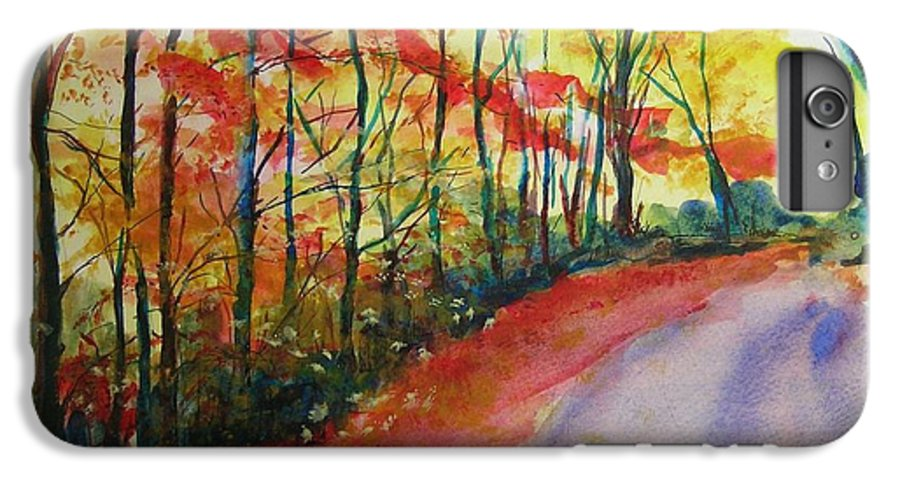 Abstract Landscape IPhone 6 Plus Case featuring the painting Fall Abstract by Lizzy Forrester