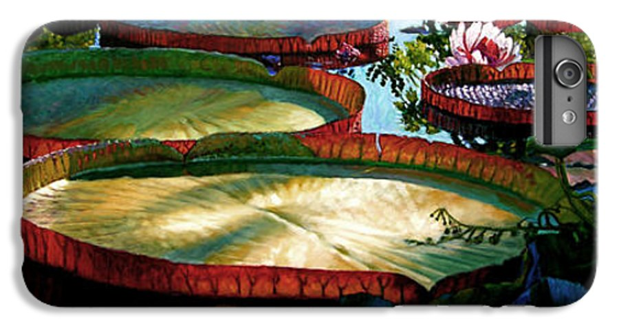 Landscape IPhone 6 Plus Case featuring the painting Fall Colors In The Morning Sun by John Lautermilch