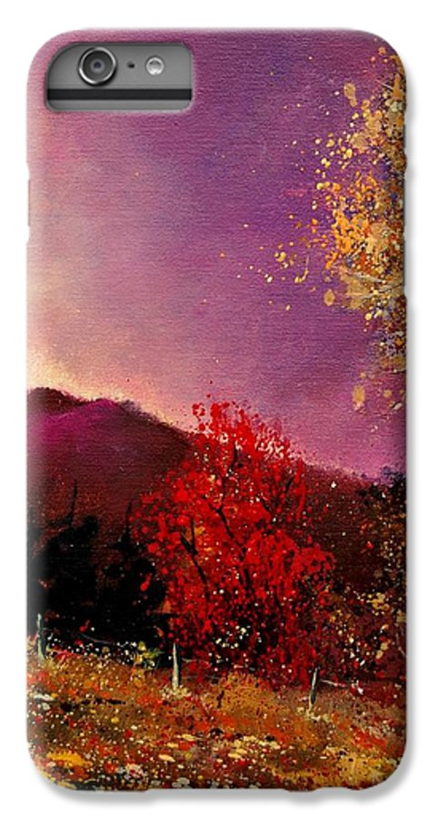 River IPhone 6 Plus Case featuring the painting Fall Colors by Pol Ledent