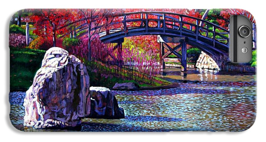 Garden IPhone 6 Plus Case featuring the painting Fall In The Garden by John Lautermilch