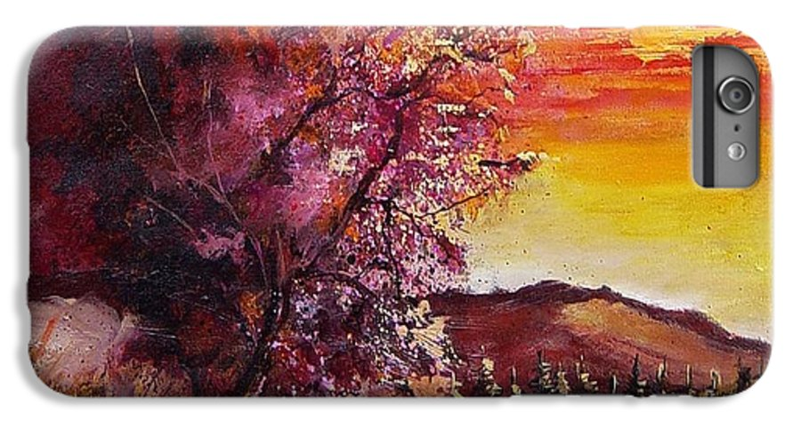 Autumn IPhone 6 Plus Case featuring the painting Fall In Villers by Pol Ledent
