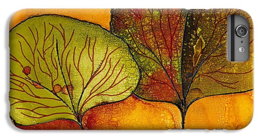 Leaf IPhone 6 Plus Case featuring the painting Fall Leaves by Susan Kubes