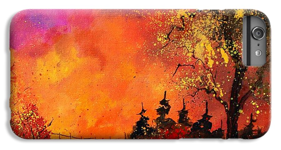River IPhone 6 Plus Case featuring the painting Fall by Pol Ledent
