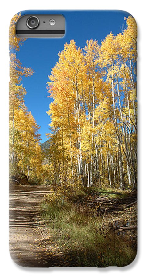 Landscape IPhone 6 Plus Case featuring the photograph Fall Road by Jerry McElroy