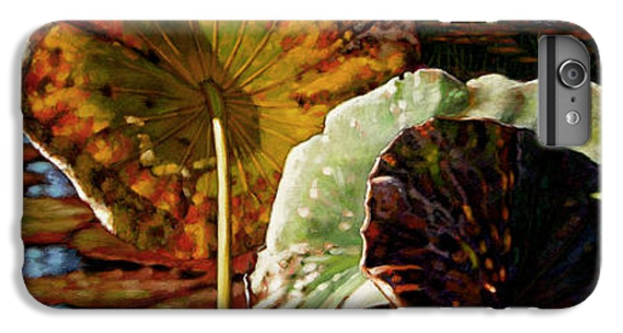 Fall Leaves IPhone 6 Plus Case featuring the painting Fall Trinity by John Lautermilch