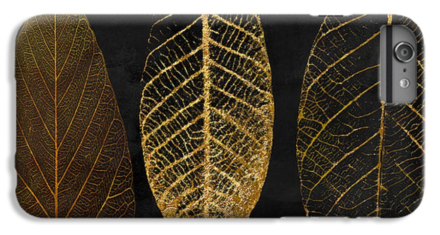 Leaf IPhone 6 Plus Case featuring the painting Fallen Gold II Autumn Leaves by Mindy Sommers