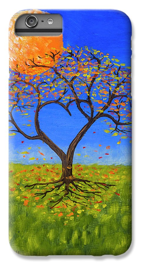 Love IPhone 6 Plus Case featuring the painting Falling For You by Jerry McElroy