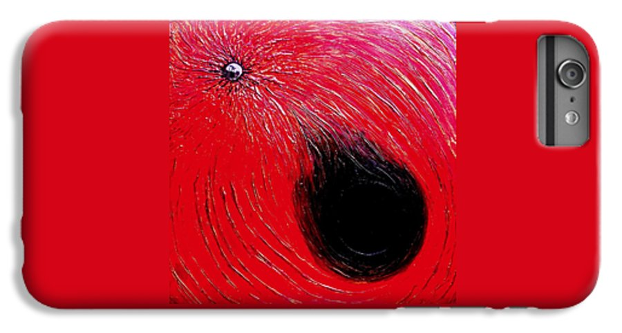 Abstract IPhone 6 Plus Case featuring the painting Falling In To Passion by Ian MacDonald