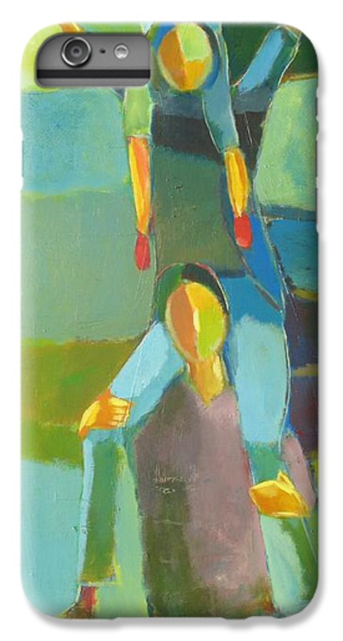 Abstract IPhone 6 Plus Case featuring the painting Family Joy by Habib Ayat