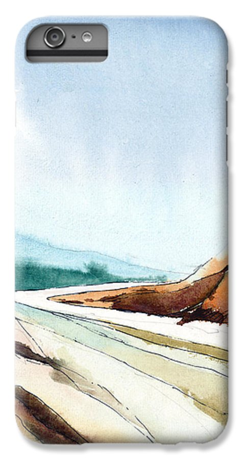 Landscape IPhone 6 Plus Case featuring the painting Far Away by Anil Nene